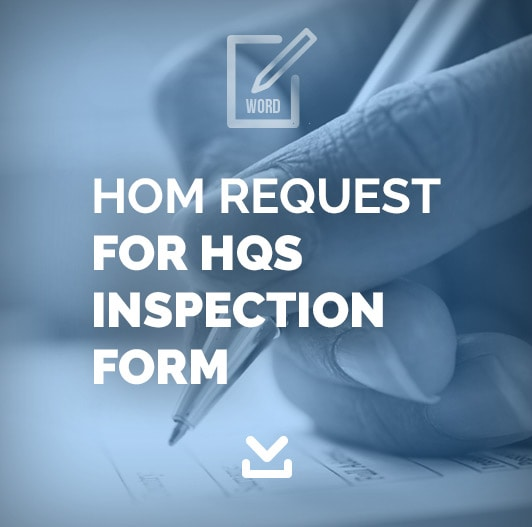 HOM Request For HQS Inspection Form
