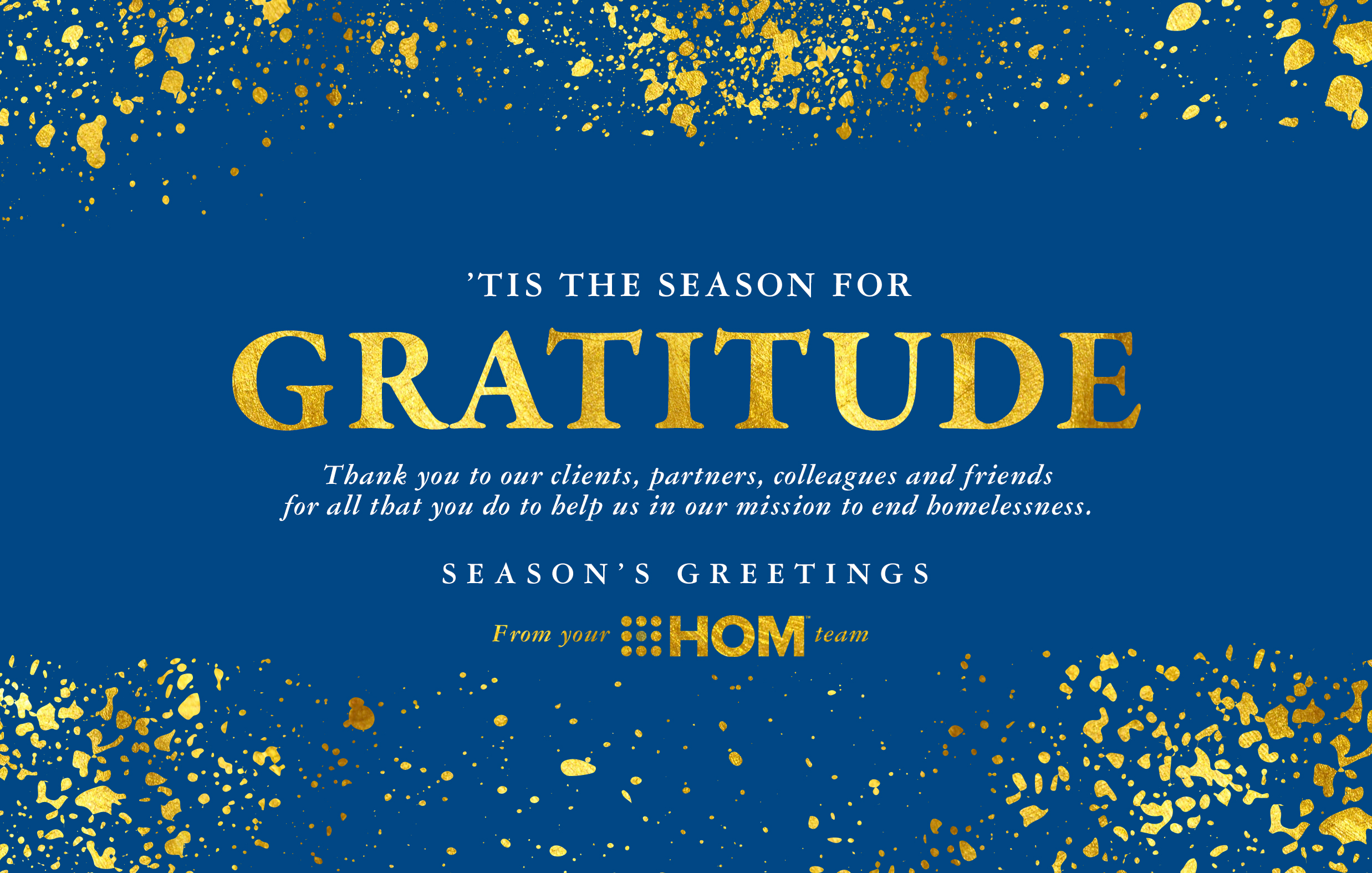 hominc holidaycard2020 front - Happy Holidays and a Joyous 2021